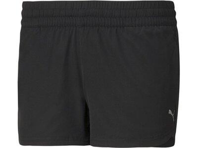 PUMA Damen Shorts PERFORMANCE WOVEN 3 SHOR Schwarz
