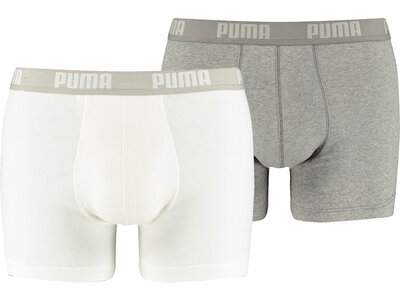 PUMA Herren Retropants Basic Boxer 2er Pack Grau