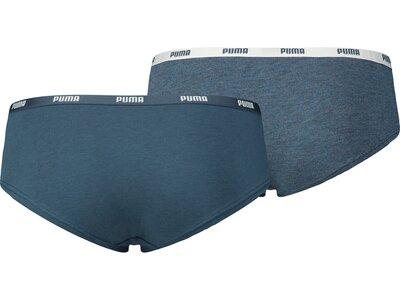 PUMA Damen Unterhose ICONIC HIPSTER 2P Blau