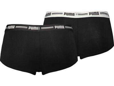 PUMA Damen Unterhose ICONIC MINI SHORT 2P Schwarz