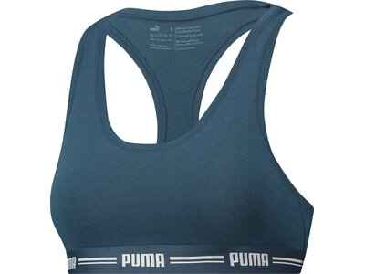 PUMA Damen Sport-BH Iconic Racer Back Bra Blau