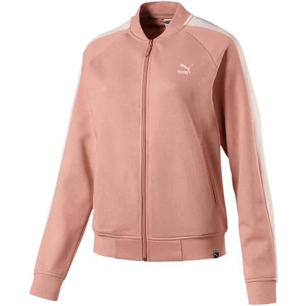 Puma Damen Sweatshirt Classics Logo T7 Track Jaket Braun