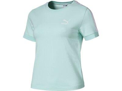 PUMA Damen T-Shirt Classics Tight T7 Tee Blau