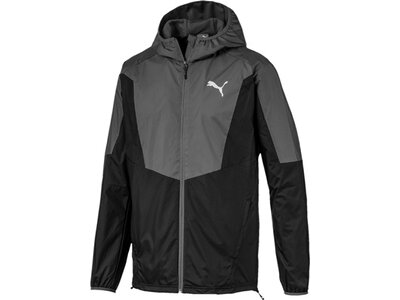 PUMA Herren Windbreaker-Jacke Active Sporty Windbreaker Schwarz