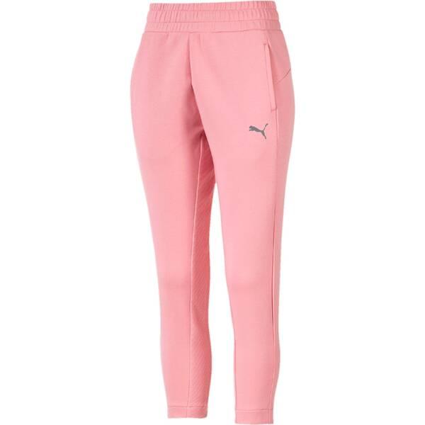 Hosen - PUMA Damen Hose EVOSTRIPE Pants › Pink  - Onlineshop Intersport