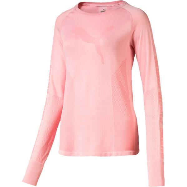 PUMA Damen T-Shirt evoKNIT Seamless LS Top