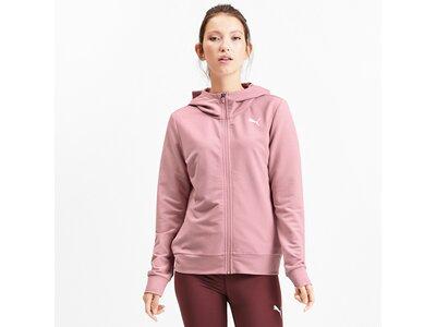 PUMA Damen Hoodie MODERN SPORT FZ Logo Hoody Pink