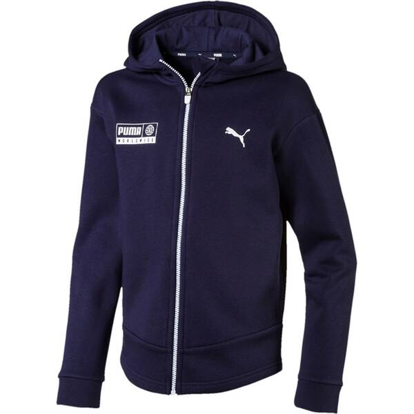 PUMA Kinder Sweatshirt Alpha Graphic Sweat Jacket FL
