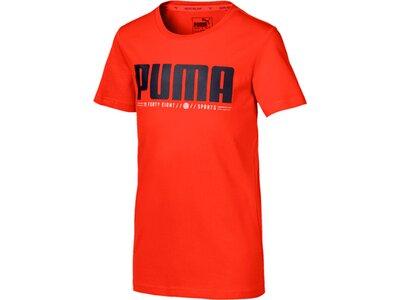 PUMA Kinder T-Shirt Active Sports Graphic Tee B Rot