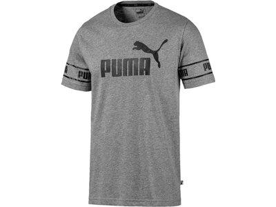 PUMA Herren Amplified Big Logo Tee Grau