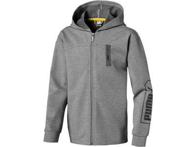 PUMA Kinder Sweatjacke NU-TILITY Hooded Jacket B Grau