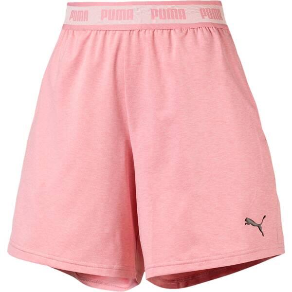 Hosen - PUMA Damen Shorts SOFT SPORTS Drapey Shorts › Rot  - Onlineshop Intersport