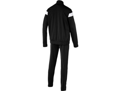 PUMA Herren Trainingsanzug Techstripe Tricot Suit Op. Schwarz