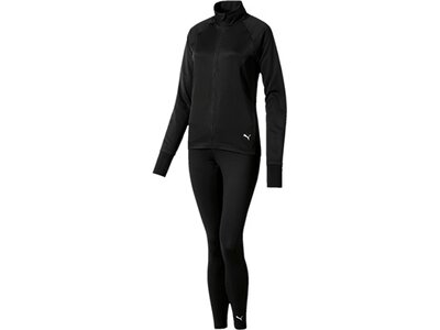 PUMA Damen Trainingsanzug ACTIVE Yogini Woven Suit Schwarz
