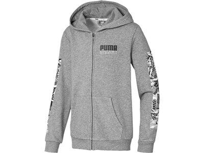 PUMA Kinder Alpha Hooded Jacket TR B Grau