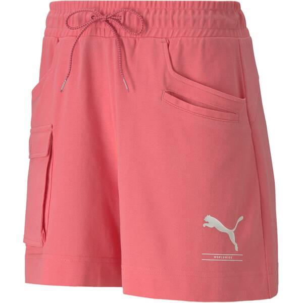 Hosen - PUMA Damen Shorts Nu tility 4 › Pink  - Onlineshop Intersport