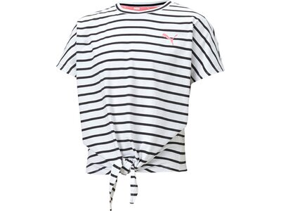 PUMA Kinder Shirt Alpha Striped Grau