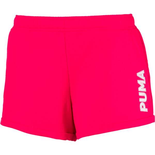 Hosen - PUMA Damen Shorts Modern Sports 3 › Rot  - Onlineshop Intersport