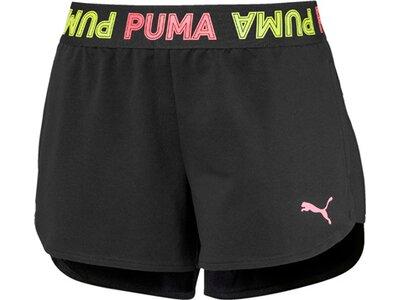 PUMA Damen Shorts Modern Sports Banded 3 Schwarz