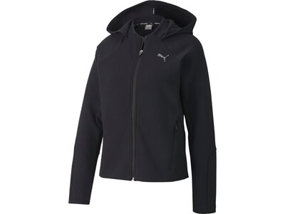 PUMA Damen Sweatshirt Evostripe Full-Zip Schwarz