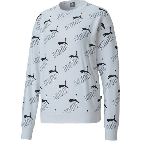 PUMA Damen Sweatshirt Amplified AOP Crew TR