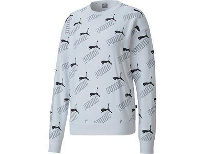 PUMA Damen Sweatshirt Amplified AOP Crew TR Silber