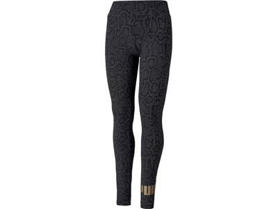 PUMA Damen Tight ESS AOP Schwarz