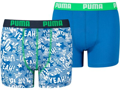 PUMA Kinder Unterhose PLAY LOUD PRINT BOXER 2P Blau