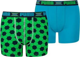 PUMA Kinder Unterhose PLAY WORLD CUP PRINT BOXER 2P