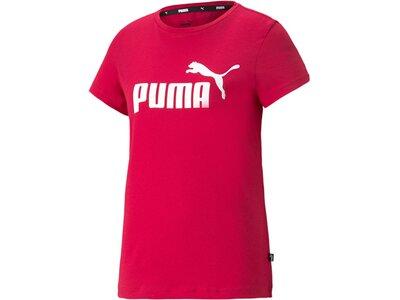 PUMA Damen Shirt ESS Logo Tee s Rot