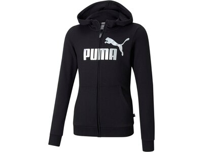 PUMA Kinder Sweatshirt ESS Logo FullZip Hoodie TR Schwarz