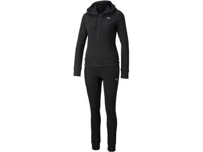 PUMA Damen Sportanzug Classic Hooded Sweat Suit Schwarz