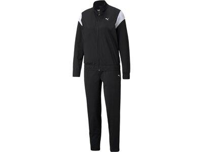PUMA Damen Sportanzug Classic Tricot Suit op Schwarz