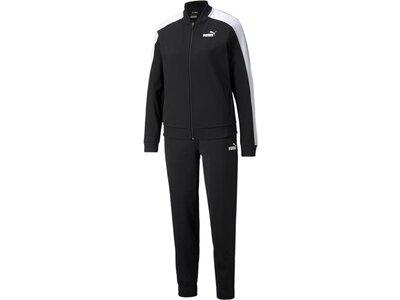 PUMA Damen Sportanzug Baseball Tricot Suit cl Schwarz