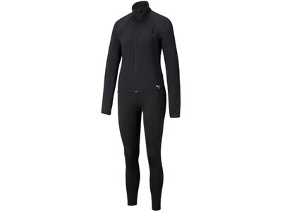 PUMA Damen Sportanzug Active Yogini Woven Suit Schwarz