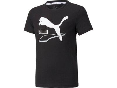 PUMA Kinder Shirt Alpha Tee B Schwarz