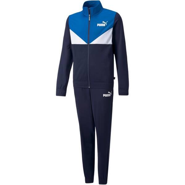 PUMA Kinder Sportanzug Colorblock Poly Suit cl B