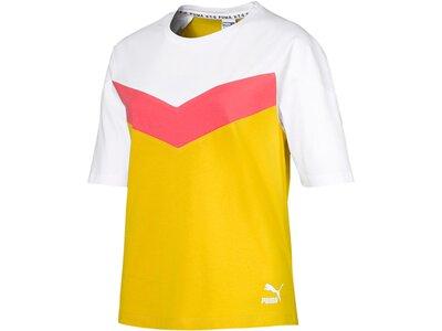 PUMA Damen T-Shirt PUMA XTG Colorblock Tee Gold