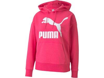 PUMA Damen Sweatshirt Classics Logo Hoody Regula Pink
