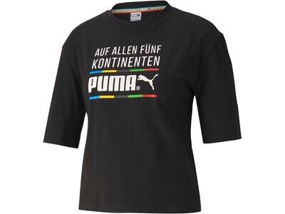 PUMA Damen Shirt TFS Graphic Regular Schwarz