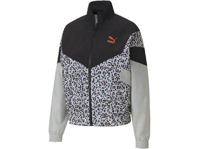 PUMA Damen Jacke TFS Track Jacket AOP Woven Schwarz
