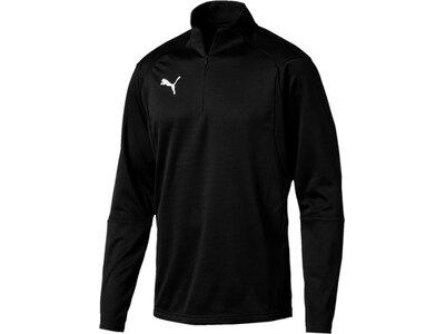 PUMA Herren T-Shirt LIGA Training 1/4 Zip Top Schwarz