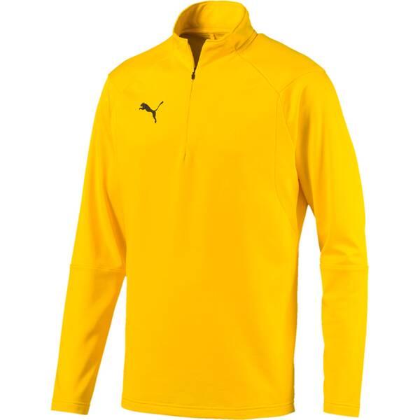 PUMA Herren T-Shirt LIGA Training 1/4 Zip Top   Sportbekleidung > Sportshirts > Poloshirts   Yellow - Black   PUMA