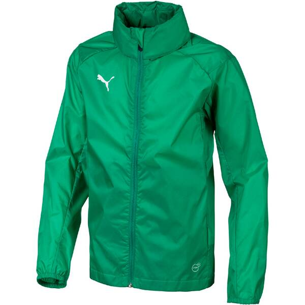 b79d0cba39d75 PUMA Kinder Regenjacke LIGA Training Rain Jacket Core Jr PEPPER GREEN-PUMA  WHITE