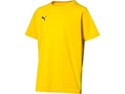 PUMA Kinder T-Shirt LIGA Casuals Tee Jr Gelb