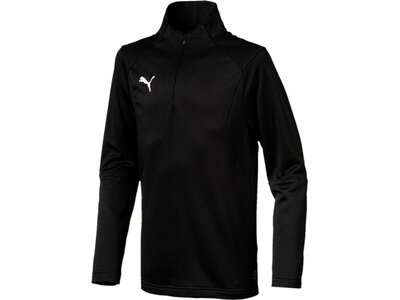 PUMA Kinder T-Shirt LIGA Training 1/4 Zip Top Jr Schwarz
