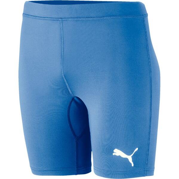 PUMA Herren Tight LIGA Baselayer Short Tight | Sportbekleidung > Sporthosen > Tights | Silver - Blue | Puma