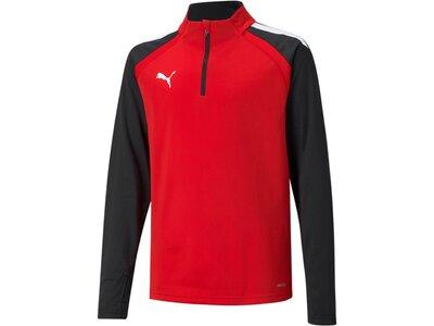 PUMA Kinder Sweatshirt teamLIGA 1/4 Zip Top Jr Rot