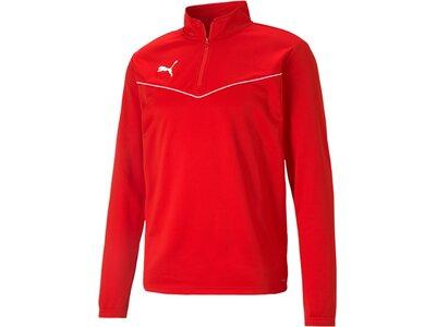 PUMA Herren Shirt teamRISE 14 Zip Top Rot