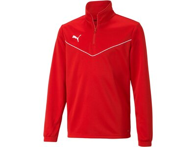 PUMA Kinder Sweatshirt teamRISE 1/4 Zip Top Jr Rot
